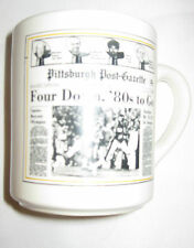 PITTSBURGH STEELERS 1980 Super Bowl Champs Post Gazette Ceramic Coffee Mug