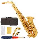 New School Professional Paint Gold Alto Eb Sax Saxophone + Case + Mouthpieces