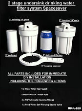 Undersink Drinking Water Filter System Spacesaver removes chlorine,heavy metals