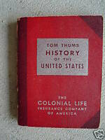 Vintage 1954 Booklet Tom Thumb History of the United States