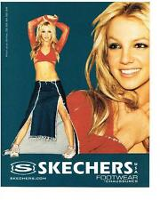 PUBLICITE  advertising  2000   SKECHERS  chaussures  BRITNEY SPEARS baskets