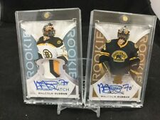 Malcolm SUBBAN The Cup Auto ROOKIE 3 Color Signed PATCH Bruins Knights RC LOT #1