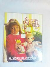 New - 1990 Precious Moments 20 Full Color Iron On Transfers