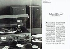 Publicité Advertising 057  1978  la chaine hi-fi compact Akai (2p)