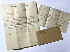 Insubordination Letter Conductor Fired PACIFIC ELECTRIC RAILWAY  Vintage