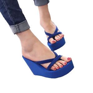 Summer Women Wedge Platform Thong Flip Flops Sandals Beach-Casual Slippers Shoes