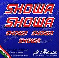 5 Adesivi HRC SHOWA Moto GpRosso bordo Bianco