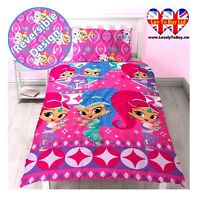 Shimmer&Shine Reversible Single Duvet Cover&Pillowcase Set,Kids Duvet Cover.