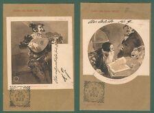 TERZI ALEARDO.  Due cartoline viaggiate nel 1903 pubblicitarie opera FAUST