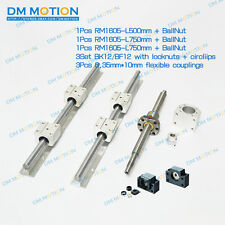 3 lead Screws ballscrews RM1605 with ballnuts +3set BK/BF12 + 3 couplings