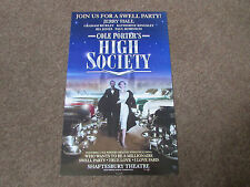 Jerry HALL in HIGH Society by Cole Porter SHAFTESBURY Theatre Poster