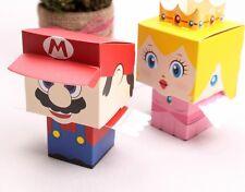 50X cartoon Super Marie Bros Princess Peach Bride&Groom wedding favors candy box