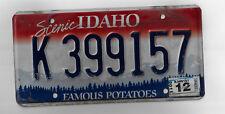 IDAHO Auto License Plate # K 399157 - Passenger Plate - FAMOUS POTATOES Plate