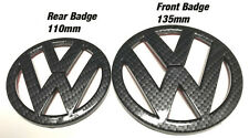 VW Golf MK6 GTI TDI R Carbon Fibre Effect Emblem Badges Front - Rear 2009-2012