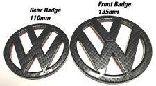 VW Golf MK6 GTI TDI R in Fibra di Carbonio Effetto EMBLEM BADGE ANTERIORE-POSTERIORE 2009-2012