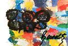 GEORG BASELITZ - bildacht (1991) - SIGNED & FRAMED - RARE