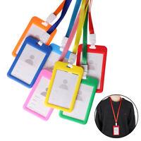 Work Card Holder Wallet Bus Bag Business Card Case ID Name Credit Card Holder
