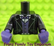 New LEGO Minifig Black TORSO Tuxedo/Purple Hands Batman Movie Series Red Hood