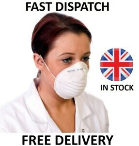 Face Mask Breathing Dust Masks Fumes Pollution DIY Elastic Easy Fit Mouth