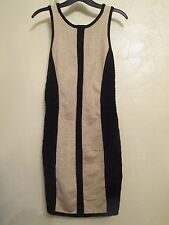 BLACK & GOLD STRETCHY PARTY DRESS SIZE S..8/10 BY FOREVER 21 NEW WITH TAGS