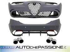 Kit paraurti Alfa Romeo Giulia Q4 Quadrifoglio 2016> racing QV estrattore termin