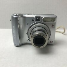 Canon PowerShot A540 6.0MP Digital Camera - Silver - Tested