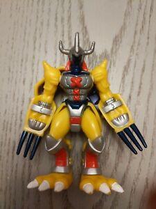 "Vintage Digimon Action Figure WarGreymon Claw Chopping  3.5"" Bandai. O1"