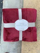Berkshire Bedding Classic Velvety Plush Full/queen Blanket Windsore Wine $60
