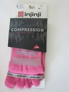 NWT INJINJI Compression Toe sock Over the Calf Length 5 Toe Fit System  Size S