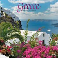 Greece 2020 Foil Square Wall Calendar by Browntrout 30 x 30cm Free Post
