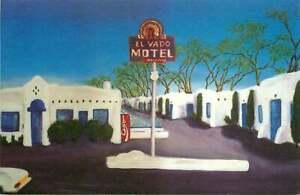 Roadside Postcard Route 66 - El Vado Motel, Albuquerque, New Mexico
