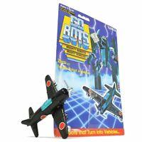 "Vintage TONKA GOBOTS ""ZERO"" #40 Enemy Robot PROPELLER AIRPLANE w/ CARD-BACK 1984"