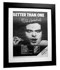 PETER GABRIEL+1st+Car+TOUR+POSTER+AD+RARE+ORIGINAL 1977+FRAMED+FAST GLOBAL SHIP