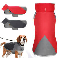 Dog Winter Coat Waterproof Pet Reflective Fleece Lined Clothes Outdoor Jacket