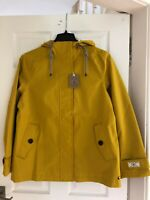 Joules Waterproof Coat - ANTIQUE GOLD Size 16 New With Tags