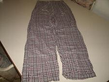 Esprit ladies gray plaid sleep lounge pants size small