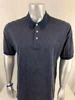 Brooks Brothers Men's Short Sleeve Polo Shirt Men's Size L Blue 100% Cotton O259