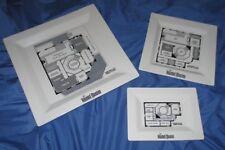 HAUNTED MANSION Blueprint Plate Set~Dinner/Salad/Appetizer DISNEY Park Exclusive