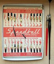 Vintage SPEEDBALL PENS Tips Style A B C D Little Wizard E Faber KORKA Pen Wallac