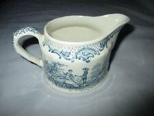 Vintage Masons Ironstone England  Romantic Cyan Blue Creamer White Milk Jug