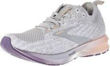 Brooks Women's Levitate 3 Running Shoe, White/Purple/Cantaloupe, 10.5 B(M) US