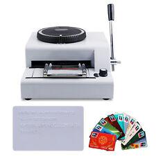 72 Character Letters Manual Embosser Credit ID PVC Card VIP Embossing Machine
