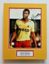 More details for luther blissett in watford shirt hand signed photo mount autograph display coa
