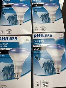 4 PACK Philips 415281 75-Watt BR30 Incandescent Agro Plant Grow Flood Light Bulb