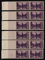 1935 Mt. Rainier Sc 758 FARLEY 3c unused imperf wide selvage pairs