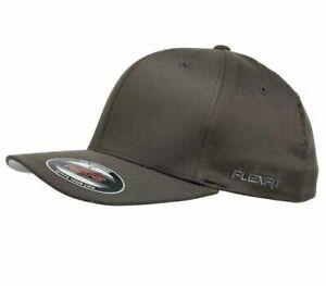 FLEXFIT PERMA CURVE CAP DARK GREY 6277 NEW FLEX FIT CAP AUST HAT HATS CAPS