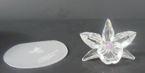 Swarovski Crystal Figurine The  Orchid-Pink W / Box 7478 NR 000 005 PRE - OWNED
