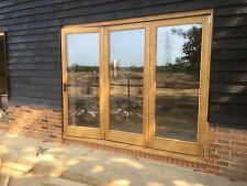Solid Oak Hardwood Bi Folding Doors Bifold Brio Weather fold Running Gear