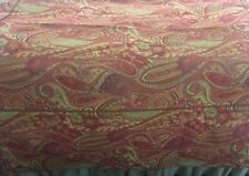 MYSTIC VALLEY TRADERS FULL QUEEN WOVEN PAISLEY BED SPREAD SPLIT CORNERS EUC