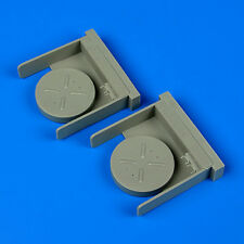 Quickboost 1:48 MiG-29 A Fulcrum Exhaust Covers Type B for GWH - Resin #QB48-686